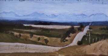 "September 4, 2006 #1, acrylic on panel, 16"" x 8"""