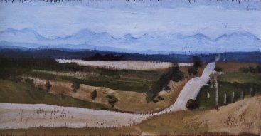 "September 4, 2006 #1, acrylic on panel, 16"" x 8"""