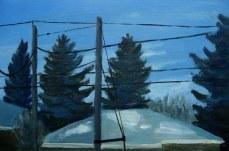 "Dusk, Mar. 2011, acrylic on masonite, 16"" x 24"""