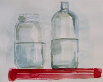 Jar study, Jun. 26, 2011, water colour on paper
