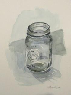Mason jar, Oct. 2011 watercolour on paper