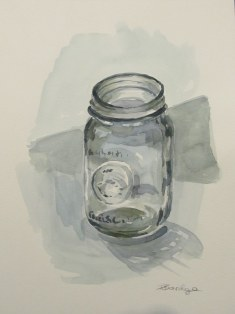 Mason jar, Oct. 2011 watercolour on paper