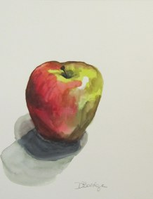 One apple, Nov. 1 2011 watercolour on paper