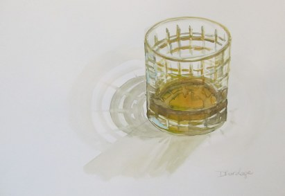 Scotch glass, Nov. 2011 watercolour on paper