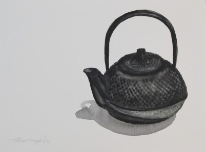 Black teapot, Jan. 18, 2012 watercolour on paper