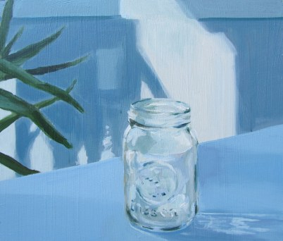 Mason jar, Feb. 5, 2012 acrylic on masonite