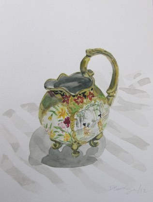 Antique Creamer, Jan. 18, 2012 watercolour on paper