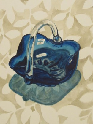 Glass candy dish 2, Mar. 20, 2012 watercolour on paper