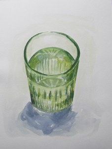 Green glass, Mar. 25, 2012 watercolour on paper