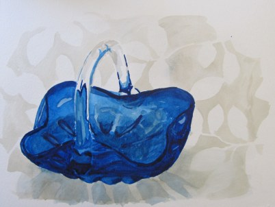 Glass candy dish, Mar. 20, 2012 watercolour on paper