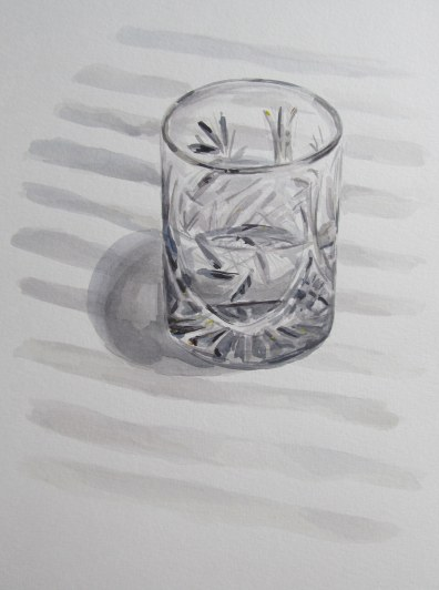 Cut crystal glass, May 1, 2012 watercolour on paper