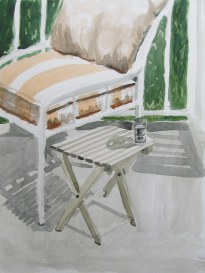 Deck study, May 8, 2012 watercolour on paper 12in. x 16in.