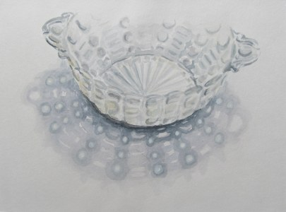 Bowl with shadow, June 24, 2012 watercolour on paper