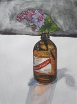 Red Stripe and Lavender, June 2012 watercolour on paper