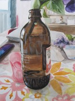 Red Stripe Still Life, June 2012 watercolour on paper
