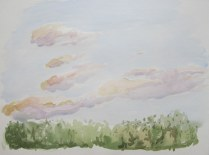 Dusk, August 7, 2012 watercolour on paper 12 x 16