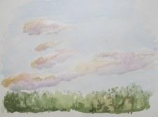 Dusk, August 7, 2012 watercolour on paper 12 x 16