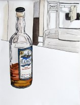 Comic Scotch Still Life, Sept. 24, 2012 watercolour on paper 10 x 13
