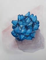 Blue Christmas Bow, Nov. 20, 2012 watercolour on paper 9 x 12