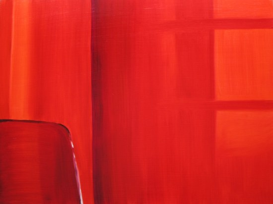 Curtains With Sun, Mar. 14, 2013 oil on panel 24 x 32