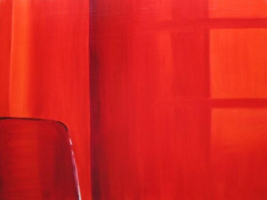Curtains With Sun, Mar. 14, 2013 oil on panel 24 x 32