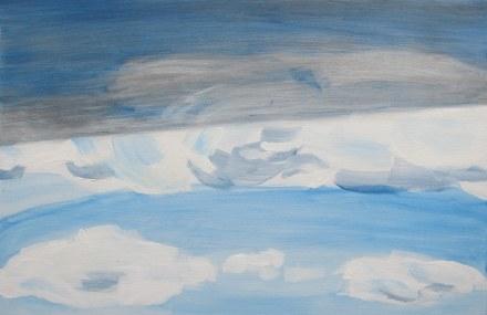 Sky and Shadow, Mar. 14, 2013 acrylic on panel 16 x 24
