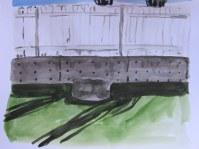 Backyard Shadows #2, May 9 2013, watercolour on paper 9 x 11