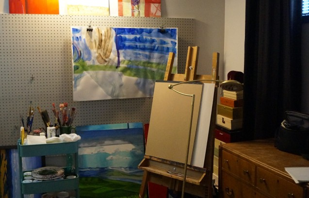 Studio and paintings