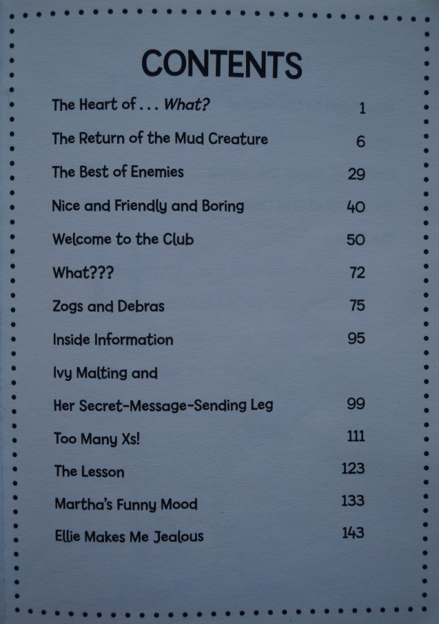 Agatha Parrot table of contents