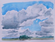 Cloudy Sky, July 2014, watercolour on paper 9in. x 11in.