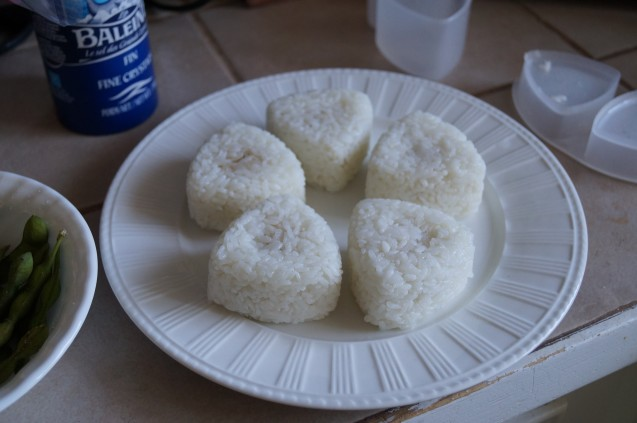 Onigiri first attempt.