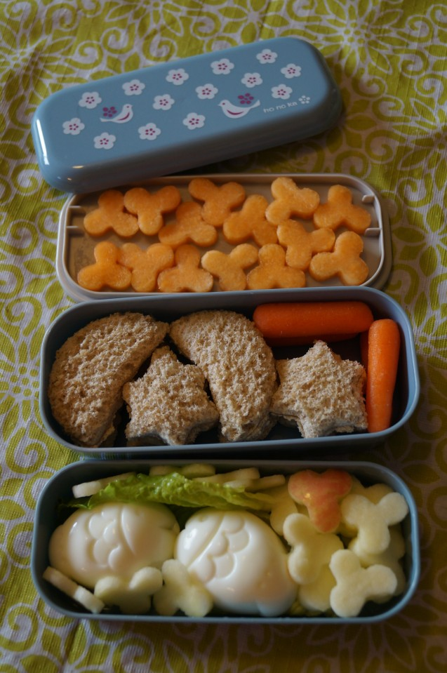 First day of school Kissing Fish Bento.