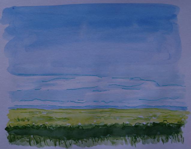 Comic-style Landscape 1, Sept. 16, 2014