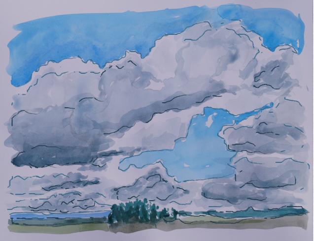 Comic-style Landscape 2, Sept. 16, 2014
