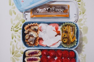 Bento Box Lunch Paintings And Drawings