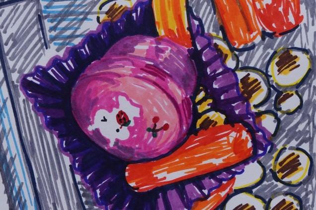 Pink Bunny Bento Leftovers crop