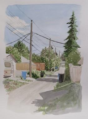 Back Alley Power Lines, Jul. 2, 2017