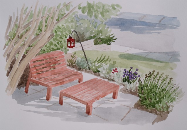Red Bench, Jul. 3, 2017