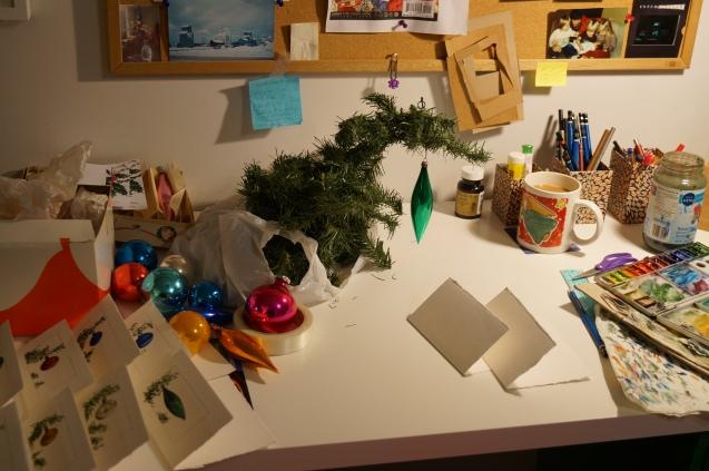 Desk still life.