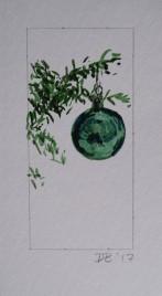 Ornament 10, Nov. 2017, watercolour on paper