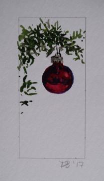 Ornament 11, Nov. 2017, watercolour on paper