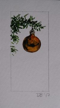 Ornament 12, Nov. 2017, watercolour on paper