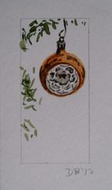 Ornament 14, Nov. 2017, watercolour on paper