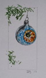 Ornament 15, Nov. 2017, watercolour on paper