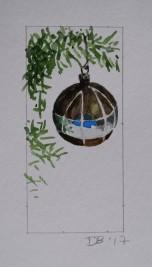 Ornament 17, Nov. 2017, watercolour on paper