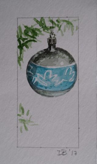 Ornament 18, Nov. 2017, watercolour on paper