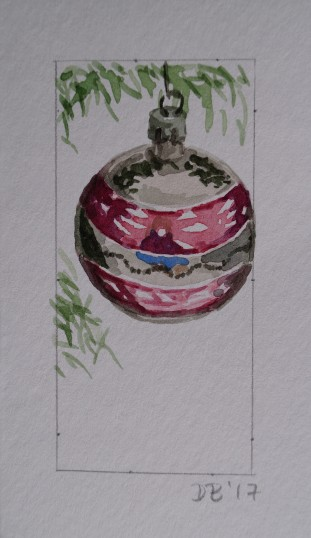 Ornament 19, Nov. 2017, watercolour on paper