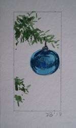 Ornament 2, Nov. 2017, watercolour on paper