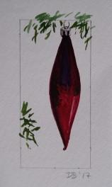Ornament 21, Nov. 2017, watercolour on paper