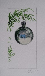 Ornament 22, Nov. 2017, watercolour on paper